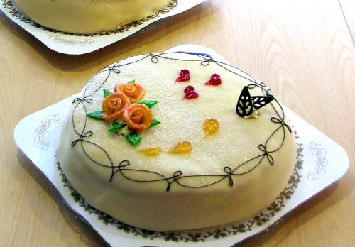 Marzipan Birthday Cake